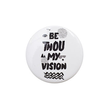 Be Thou My Vision White Button