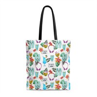 Beach Flipflops and Flowers Tote Bag