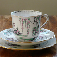 A Very beautiful pagoda Tea cup and saucer c1915 by Lilsparlour