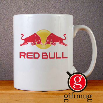 Red Bull Logo Ceramic Coffee Mugs