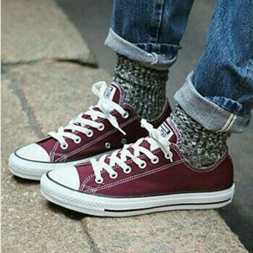 Adult Converse All Star Low-Top Sneakers Wine red b01a304ee
