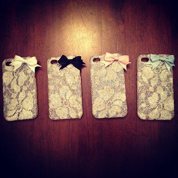 Lace IPhone 4 Case by Kkaitlynp on Etsy