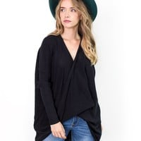 Ansel Faux Wrap Sweater