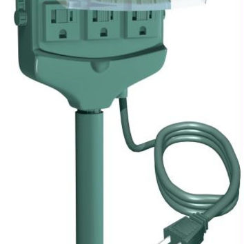 Green 3-outlet Ground Stake - By Westinghouse