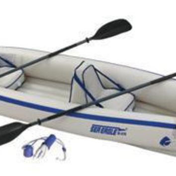 Sea Eagle 370 Inflatable 12ft 6in Kayak Incl Paddles Seats and Pump