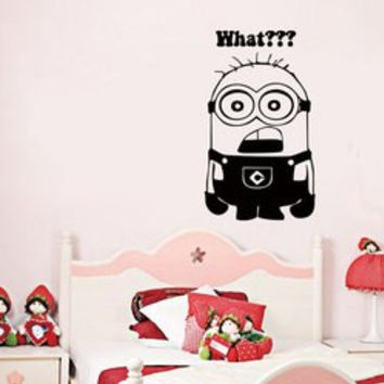 Quality Black Minion Pattern Removeable Wall Stickers