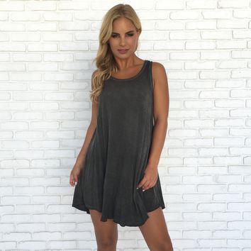 Friend Zone Casual Shift Grey Dress