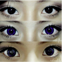 GEO Hurricane Violet Circle Lens Cosmetic Big Eye Colored Contacts Lenses | EyeCandy's