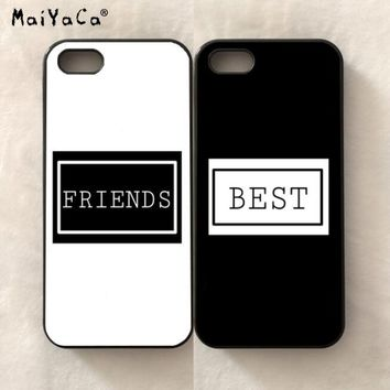 hight quality BFF best friends love pair soft edge phone case for iPhone 5s se 6 6s plus 7 7plus 8 8plus X XR XS MAX TPU case