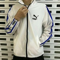 PUMA 2018 summer new wave men and women with the same paragraph sunscreen clothing F-XMCP-YC White