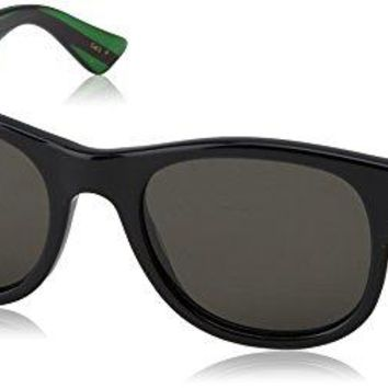 Gucci Fashion Sunglasses, One Size, Black / Grey / Green