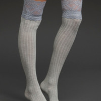 Over-The-Knee Lace Top Socks