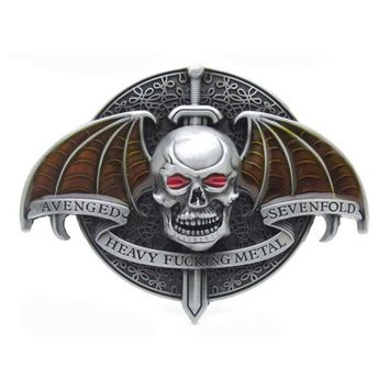Avenged Sevenfold Heavy Metal Rock Punk Music Bat Skull Belt Buckle