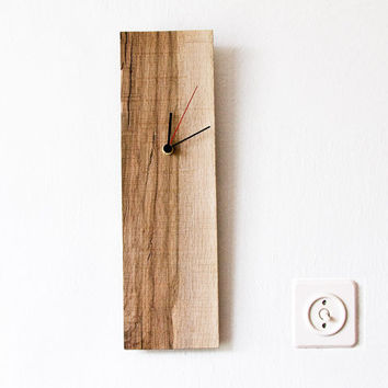 Wall Clock Salvaged Wood Modern Wall Hanging Clock ELIAN D