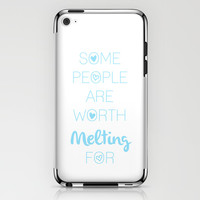 Frozen: some people are worth MELTING for iPhone & iPod Skin by KrashDesignCo.