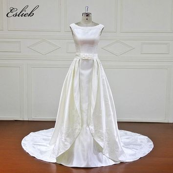 Eslieb Custom made Good Quality Wedding Dresses Beading Zipper back Bridal Gowns Vestido De Novias Wedding Dress XF17039A