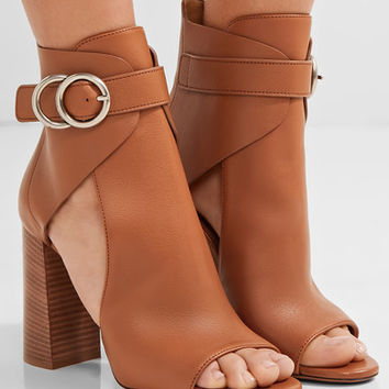 Chloé - Millie cutout leather ankle boots