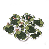 Eco turtles stickers - pack of 12