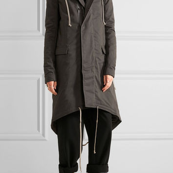 Rick Owens - Cotton-twill hooded parka