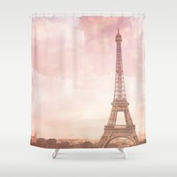 Paris in Pink Shower Curtain by Legends of Darkness Photography