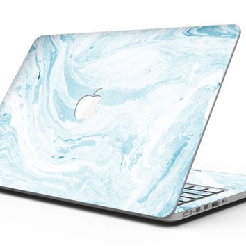 Mixtured Blue 34 Textured Marble - MacBook Pro with Retina Display Full-Coverage Skin Kit