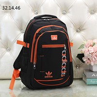 ADIDAS tide brand men and women outdoor sports travel large capacity backpack orange