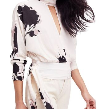 Say You Love Me Floral Print Blouse