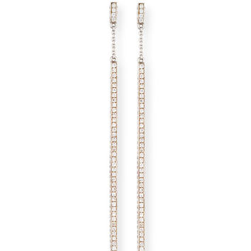 Mimi So Pavé Diamond Stick Earrings