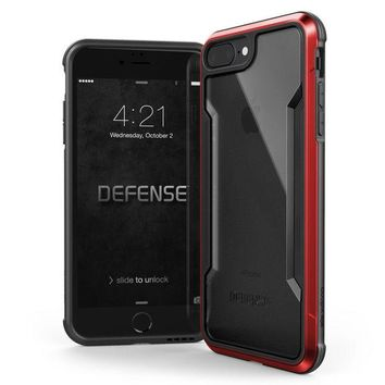 VONEXO9 iPhone 8 Plus & iPhone 7 Plus Case, X-Doria Defense Shield Series - Military Grade Drop Tested, Anodized Aluminum, TPU, and Polycarbonate Protective Case for Apple iPhone 8 Plus & 7 Plus, (Red)