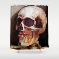 Skully  Shower Curtain by Bruce Stanfield