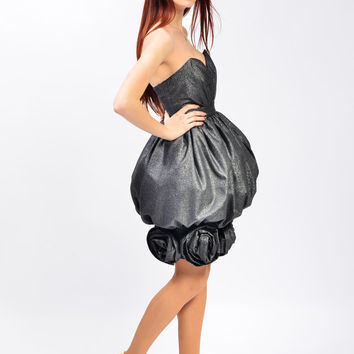 Dress with detachable skirt