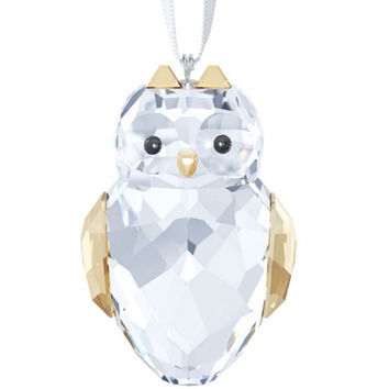 Swarovski Crystal Christmas Ornament OWL #5135848 New