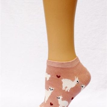Alpaca Love No-Show Cotton Socks
