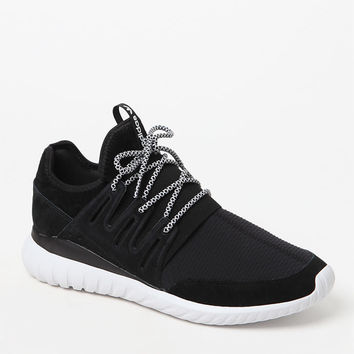 adidas Tubular Radial Black and White Shoes at PacSun.com