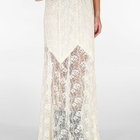 Lily White Lace Maxi Skirt