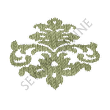 IKAT Style FLEUR De Lis EMBROIDERY Design Download 4x4 5x7 6x10 Great for Pillows and Quilts Jagged Edge Stitch