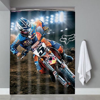 Hot Famous Ryan Dungey Motocross Racer Custom Shower Curtain Limited Edition