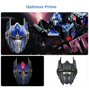 LED Light Optimus Prime Mask Cosplay Halloween Costumes