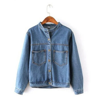 Vintage Women's Jeans Loose Denim Jacket