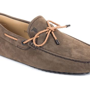 Tod's Men's Brown Gommino Leather Driving Loafers