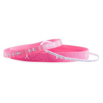 Under Armour Women's UA Power In Pink Lurex Headband 3-Pack