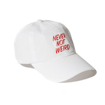 White Not Weird Embroidered Baseball Cap Hat