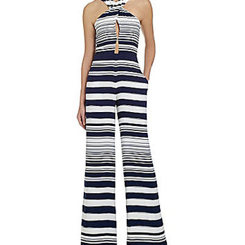 Jessica Simpson Harper Striped Jumpsuit - Blue/White