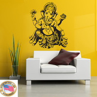 Wall Decal  Design Vinyl Home Art Decor Sticker Decals Mural Yoga Ganesha Buddhism Om India Buddha (210d)
