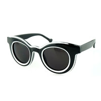 Round Reflective Sunglasses