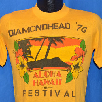 70s Diamond Head Crater Festival (Sunshine Festival) 1976 Aloha Hawaii t-shirt Small