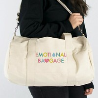 Emotional Baggage Canvas Duffle Bag