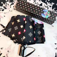 Louis Vuitton LV high quality new fashion colorful monogram bird print personality umbrella