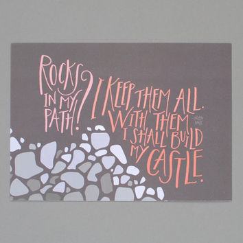 Print // Rocks in My Path (5x7)