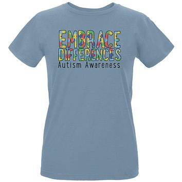 Autism Awareness Embrace Differences Womens Organic T Shirt